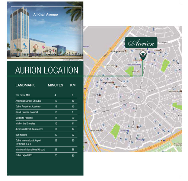 Aurion-Residence Location Map