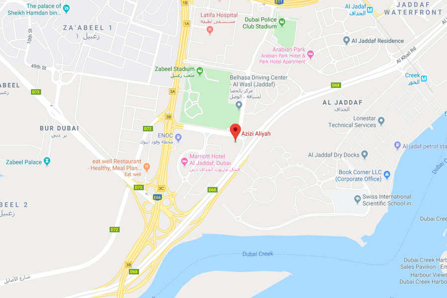 Aliyah Serviced Apartments -  Location Plan