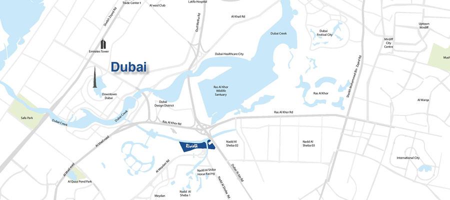 Azizi Riviera Meydan -  Location Plan
