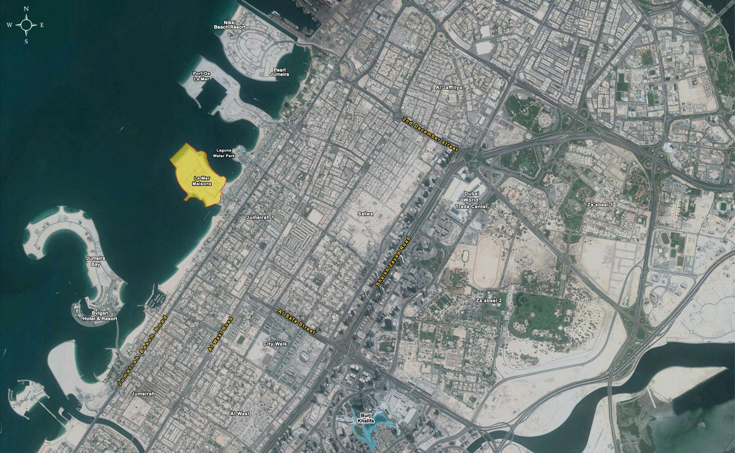 La Mer Maisons -  Location Plan