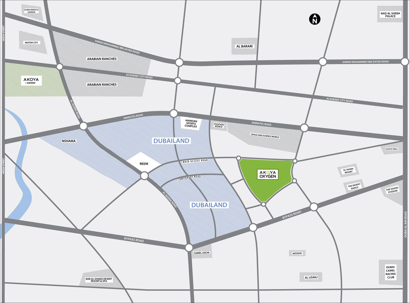 Damac-Akoya-Imagine-Plots Location Map
