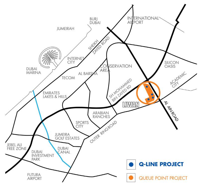 Q-Line Location Map