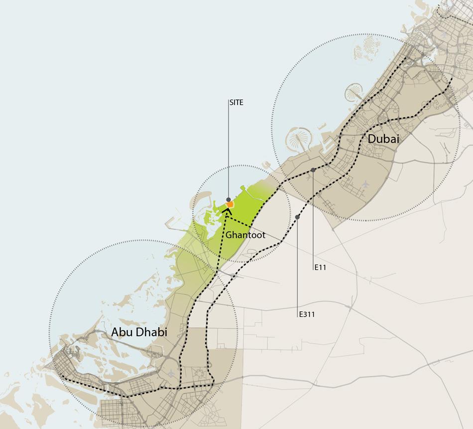 AlJurf-Badya-Villas Location Map
