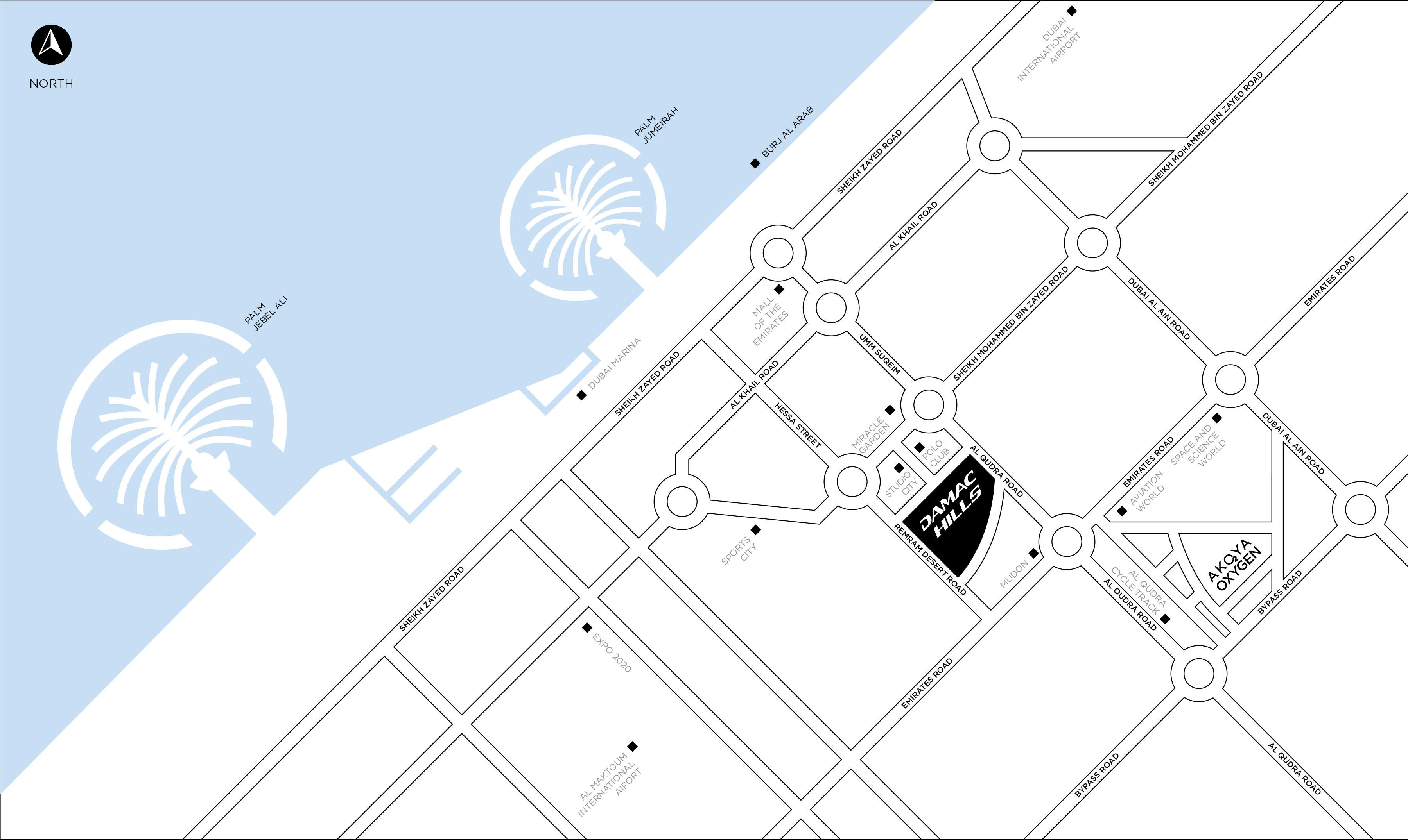 DAMAC-Villas-by-Paramount Location Map
