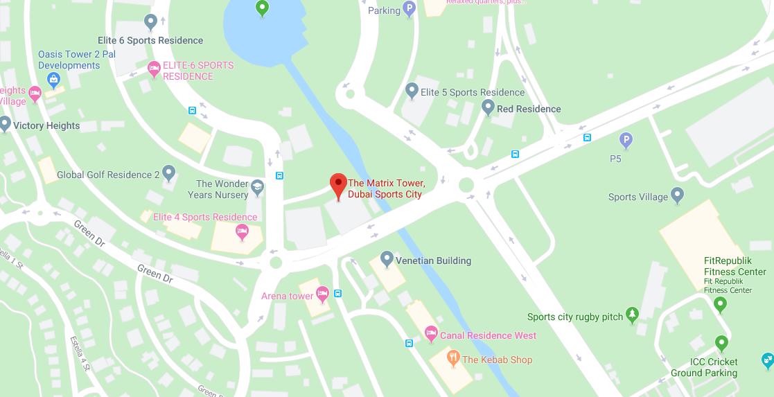 The-Matrix-Tower Location Map