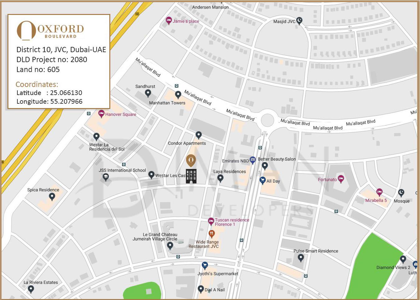 Oxford Boulevard -  Location Plan
