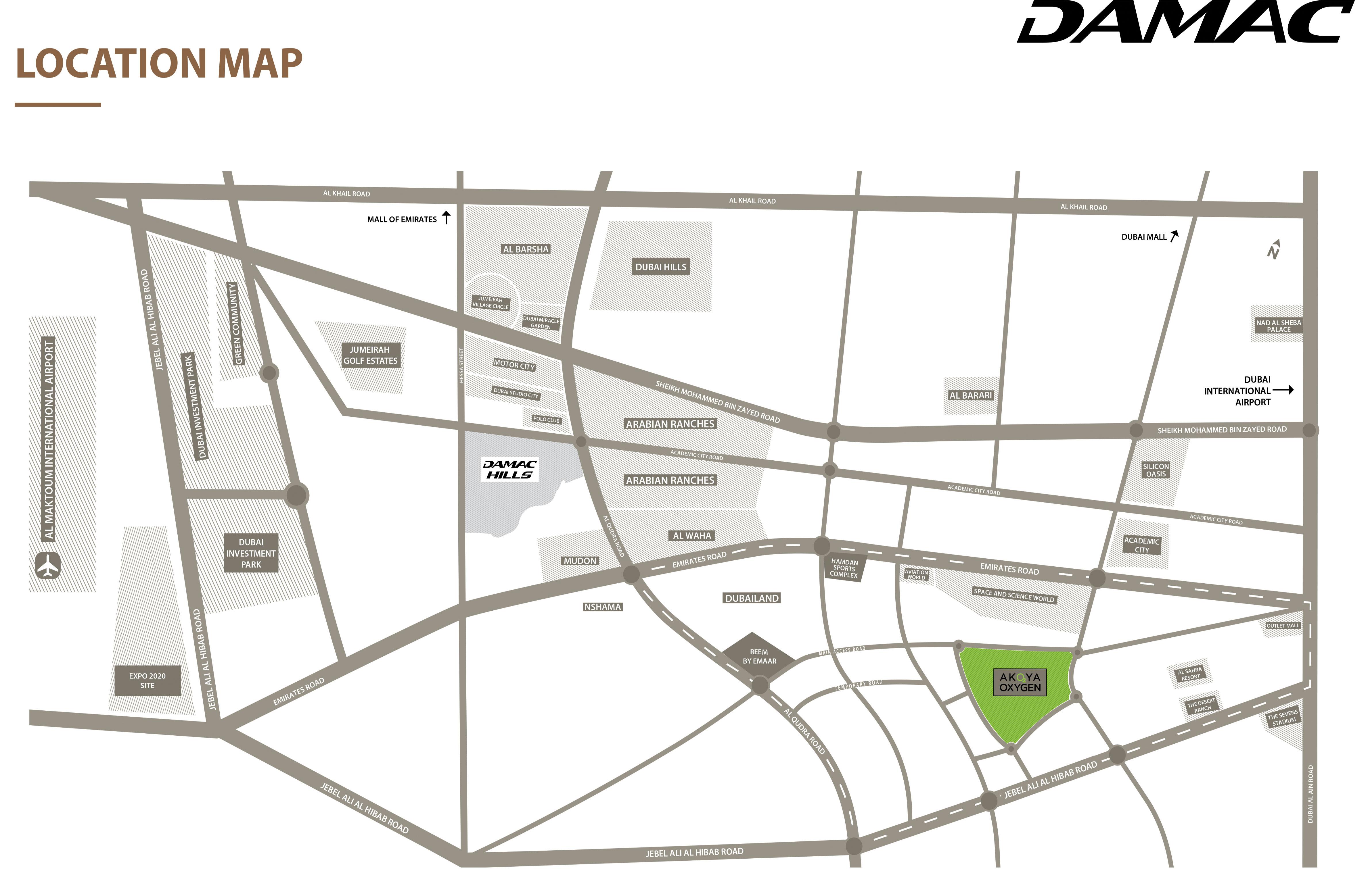 Bait-Al-Aseel-Villas Location Map