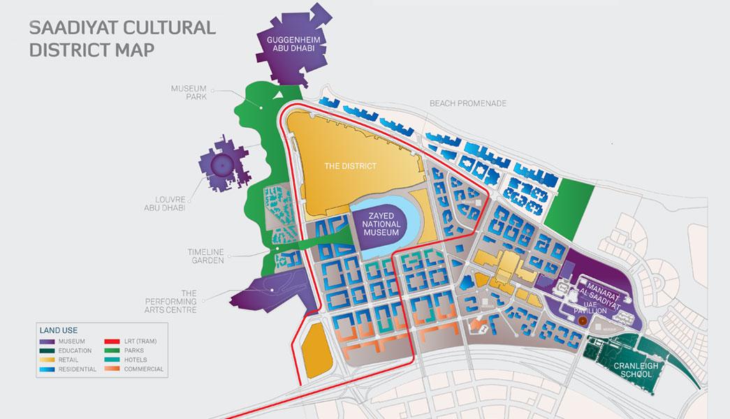 Mamsha Al Saadiyat -  Location Plan