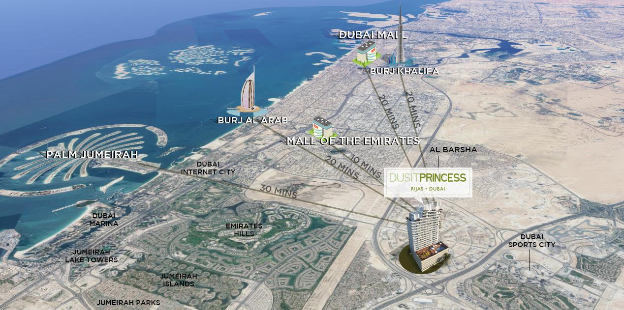 Dusit-Princess Location Map