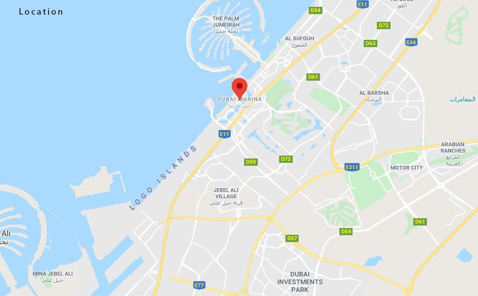 Marina Terrace -  Location Plan