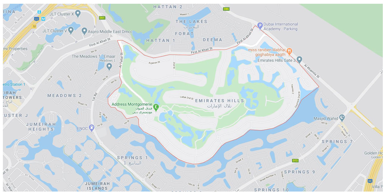 Emirates Hills Villas -  Location Plan