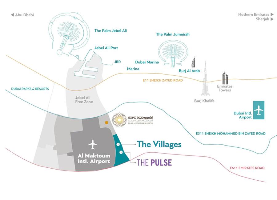 The Pulse -  Location Plan