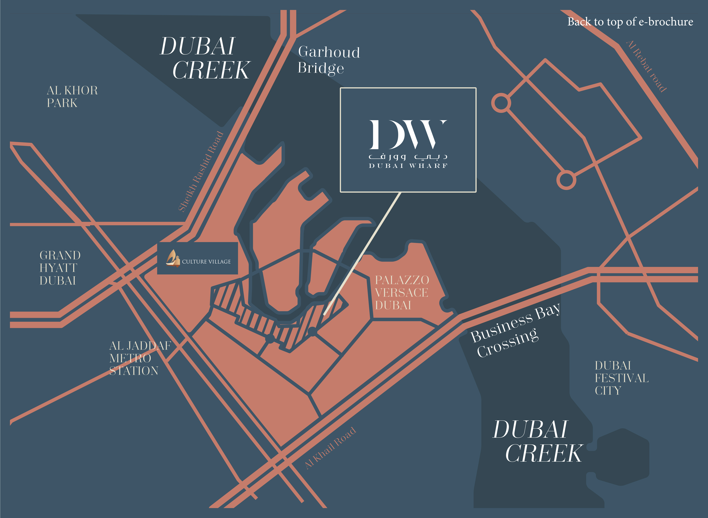 Dubai-Wharf Location Map