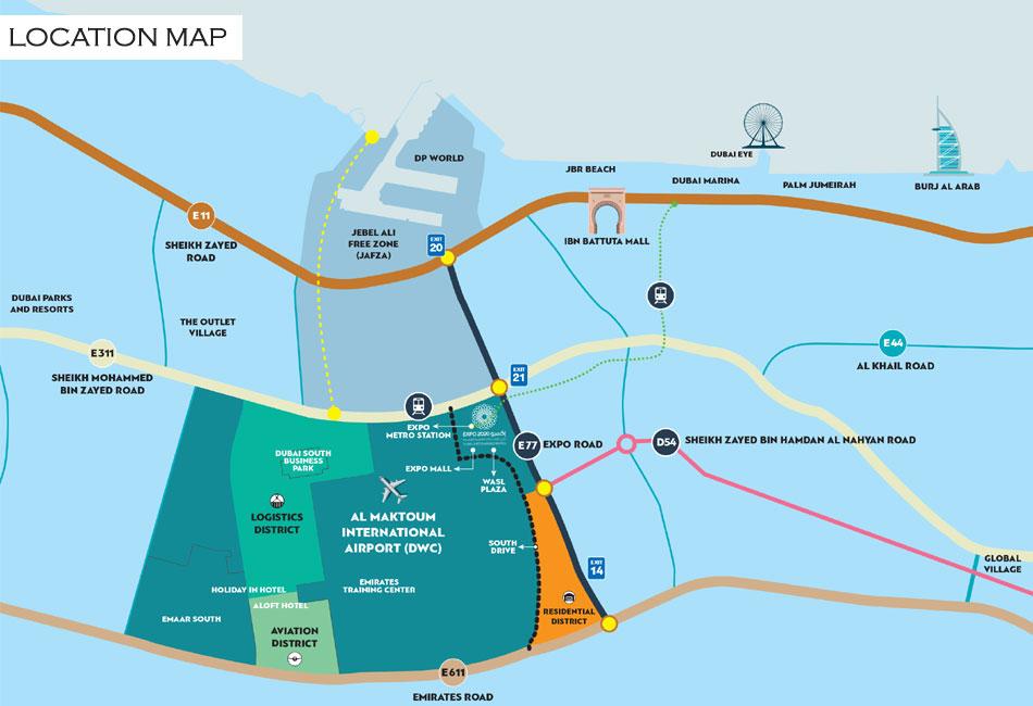 Dubai South Plots -  Location Plan