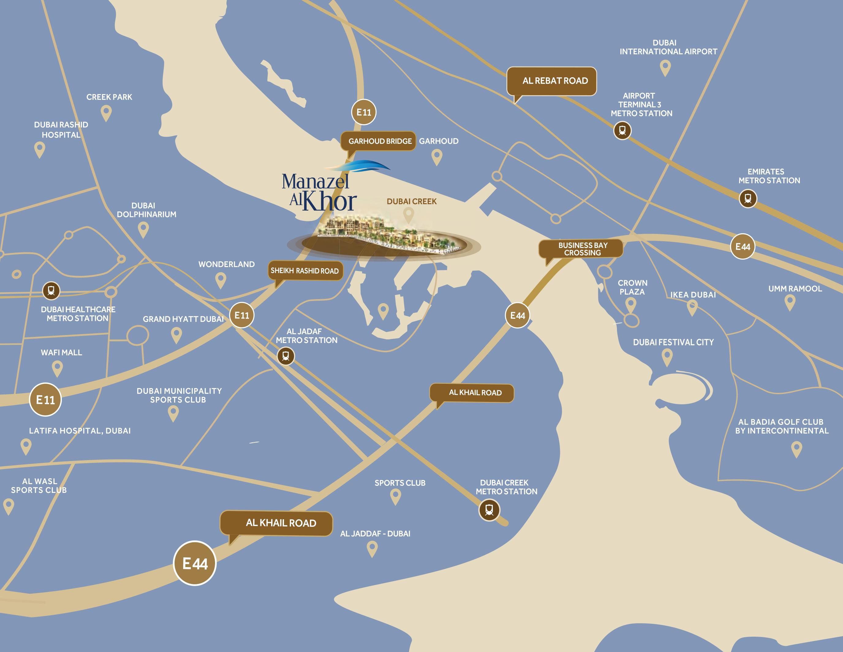 Manazel Al Khor -  Location Plan