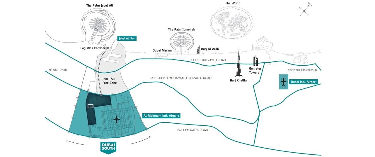 Parklane-Dubai-South Location Map