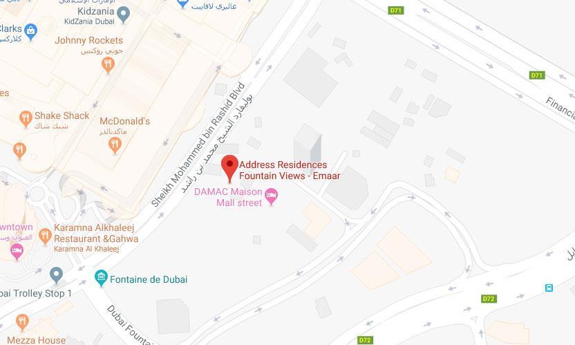 Address Fountain Views -  Location Plan