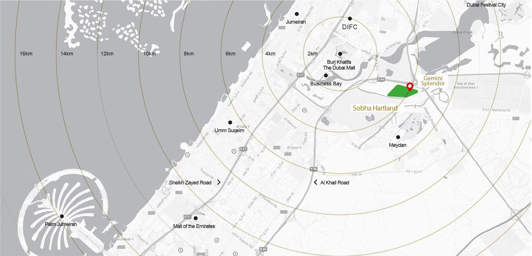 Gemini-Splendor Location Map