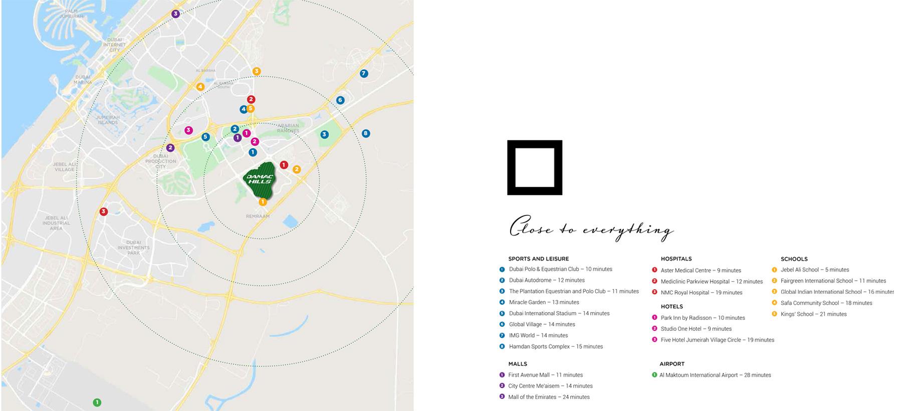 Canvas Premium Plots -  Location Plan