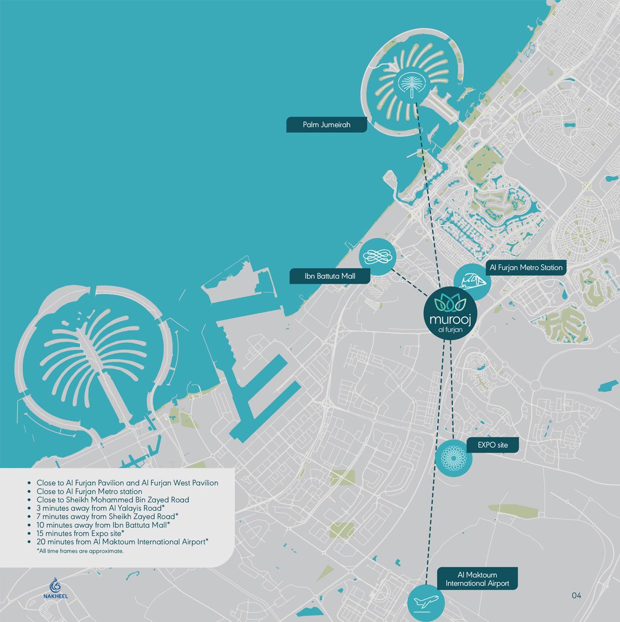 Murooj Al Furjan -  Location Plan
