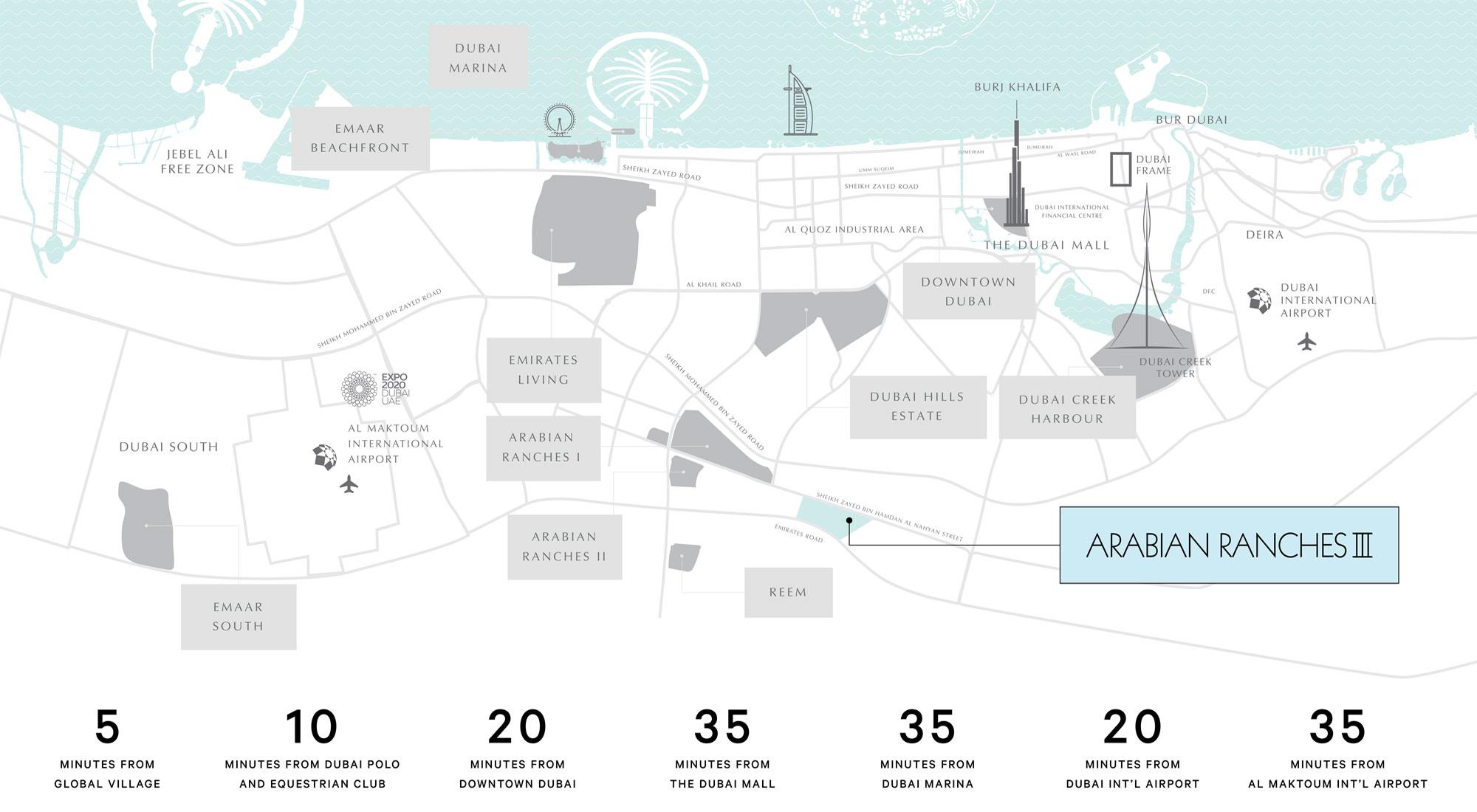 Caya 2 at Arabian Ranches 3 -  Location Plan