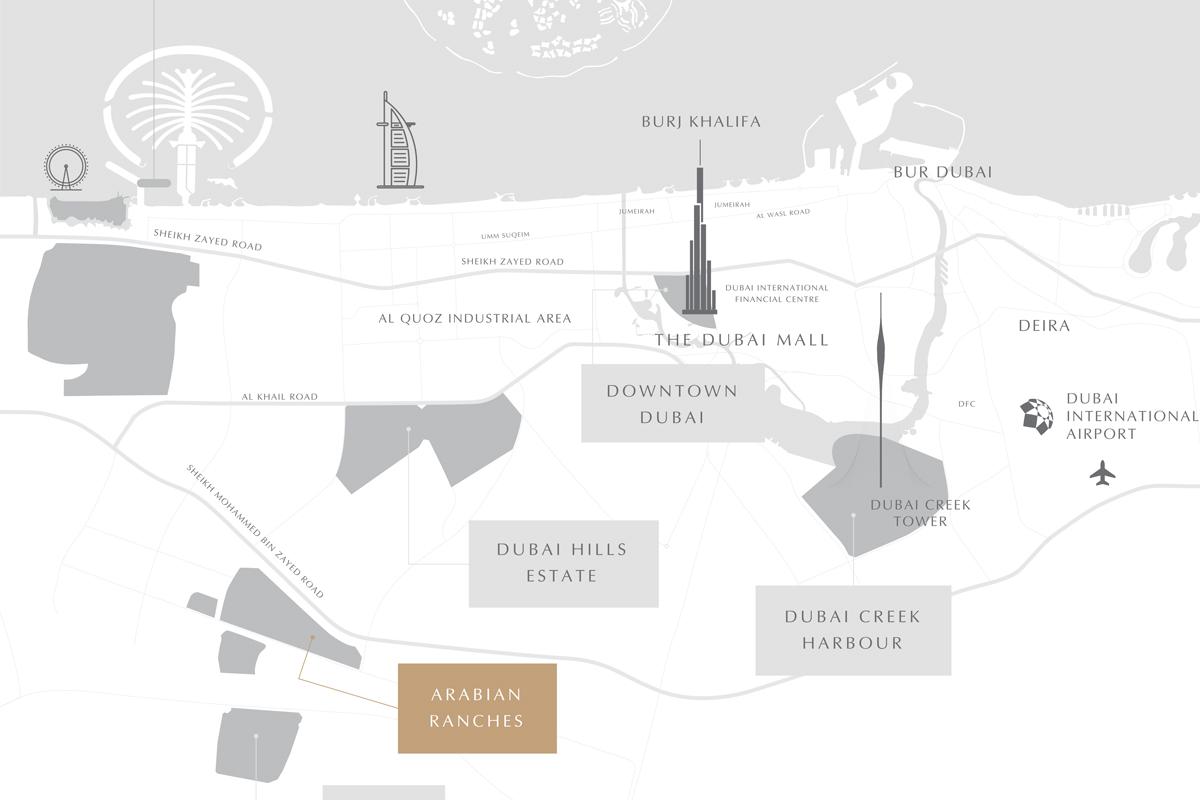 Rasha Villas -  Location Plan