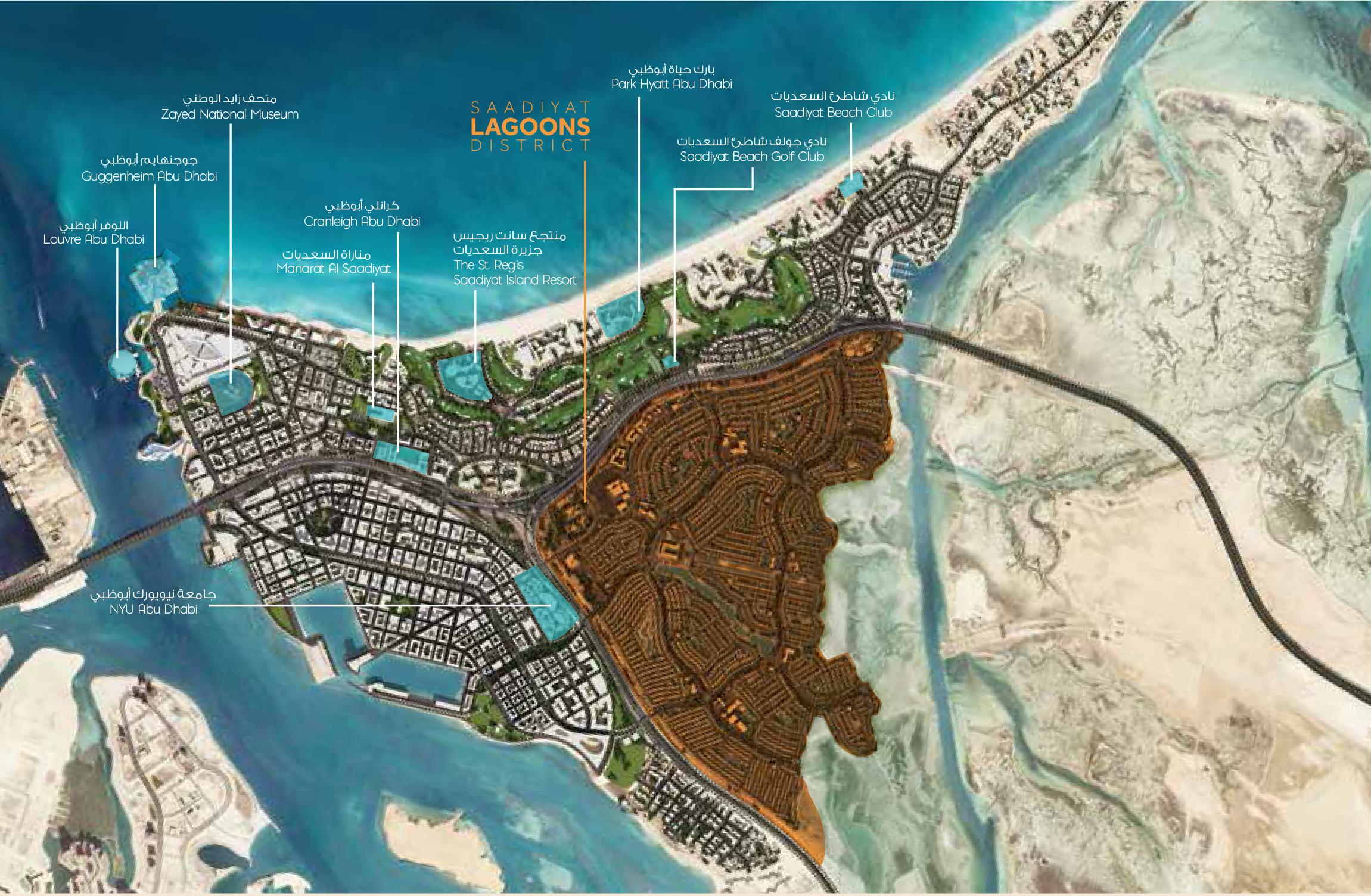 Saadiyat-Lagoons Location Map