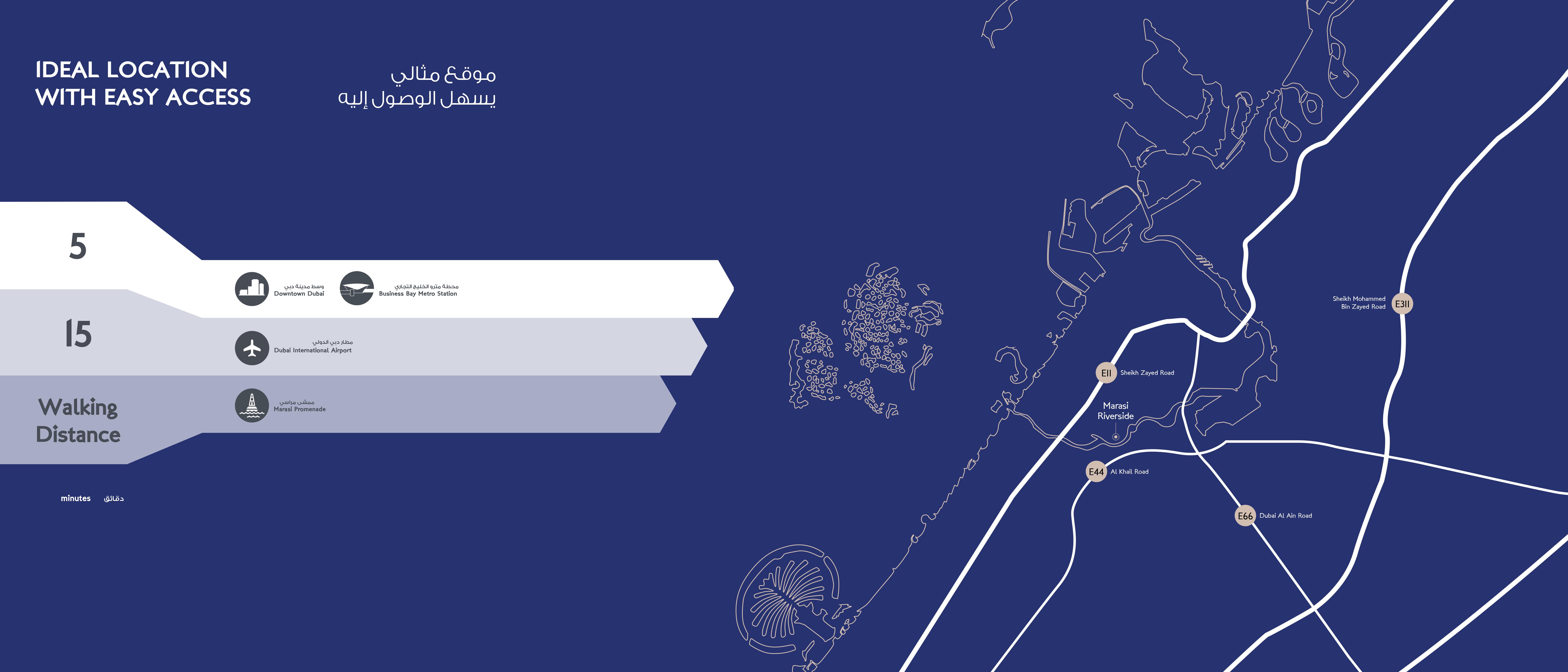 Marasi Riverside -  Location Plan