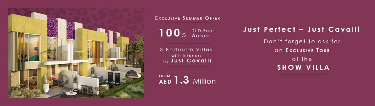 Damac Just Cavalli Villas - Exclusive Summer Offer