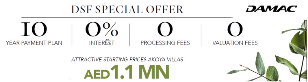 DSF Special Offer - Akoya Villas