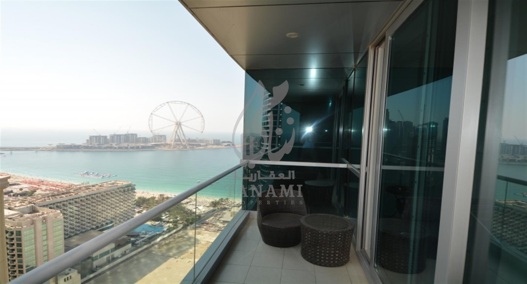 Fully Furnished 2 bed|Sea + Marina View